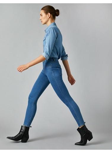 Koton Yüksek Bel Skinny Carmen Jean Mavi